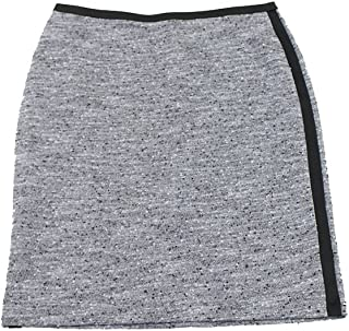 Calvin Klein Graphite Marled Contrast-Trim Knit Pencil Skirt 4