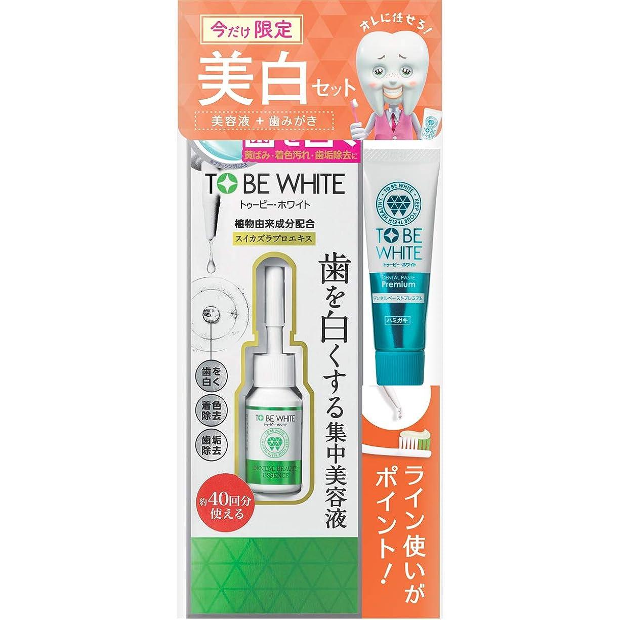 アーティファクトパッケージ精神TO BE WHITE(トゥービー?ホワイト) トゥービー?ホワイト デンタルビューティーエッセンス 7ml ミニペースト20g付き セット