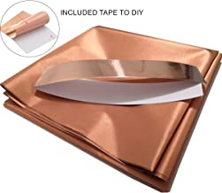 Copper Fabric Blocking RFID/RF-Reduce EMF/EMI Protection Conductive Fabric for Smart Meters Prevent from Radiation/Singal/WiFi Golden Color 39