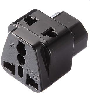 LNIEGE Adattatore Socket International Power AdaptersAC110-250V 10A Femminile IEC320 C13 connettore di Alimentazione ad Angolo retto