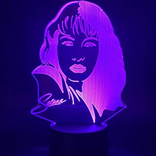 3D Night Light Boys Girls Toy Celebrity Selena Gomez Figure for Home Office Room Decoration
