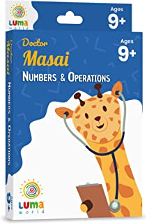 Luma World Doctor Masai Educational Game-Based Math Flash Cards with a Fun Magic Glass to View Hidden Numbers for Ages 9+ ...