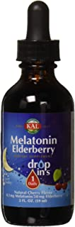 Kal 0.3 Mg Melatonin Cherry Elderberry Dropins, 2 Fluid Ounce