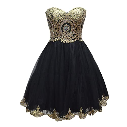 Black and Gold Plus Size Dress: Amazon.com
