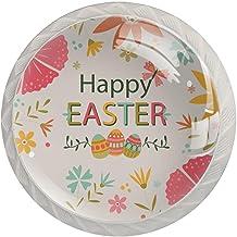 Lade Handgrepen Kabinet Knoppen Rond Een Pack van 4 Lade Knoppen, Bloemen en Eieren