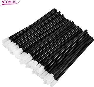 ATOMUS リップブラシ アイライナーブラシ まつげのブラシ 使い捨て 携帯用 便 利 メイクブラシ (50pcs)
