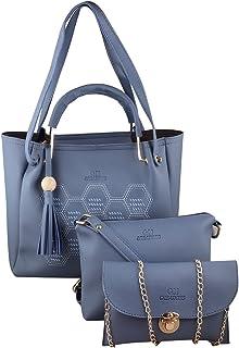 GM Creations™ PU Leather Latest Trendy Designer Fashionable Ladies Top Handle Handbag With Sling Bag Shoulder Bag & Clutch...