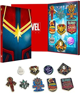 Official Captain Marvel Collectors Pin Badge Set
