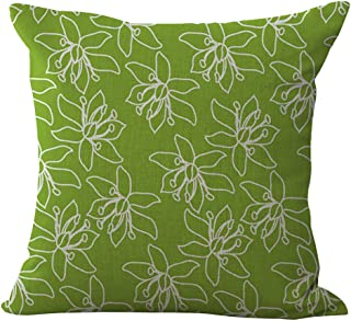 ChezMax Lime Living Room Plant Natural Color Decorative Throw Pillow Case Without Filler Cushion Cover 17.7
