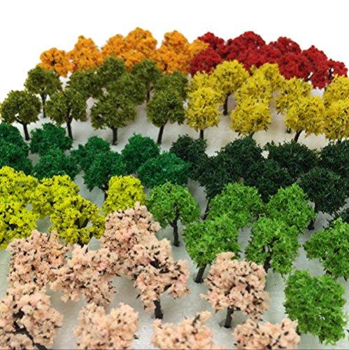 森林 選べる 色 数量 50本 100本 【DauStage】 Nゲージ ジオラマ 鉄道 建築 模型 用 樹木 風景 3㎝ 21 ミッ...