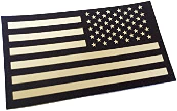 """3.5"""" x 2"""" Reversed Tactical Infrared Reflective US Flag (Ultra Durable) 3M Combat Decal"""
