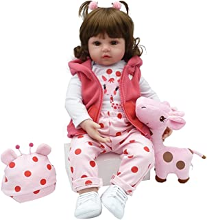 Yesteria Realistic Reborn Toddler Baby Doll Girl Vinyl Pink Outfit White Shoes 24 Inches