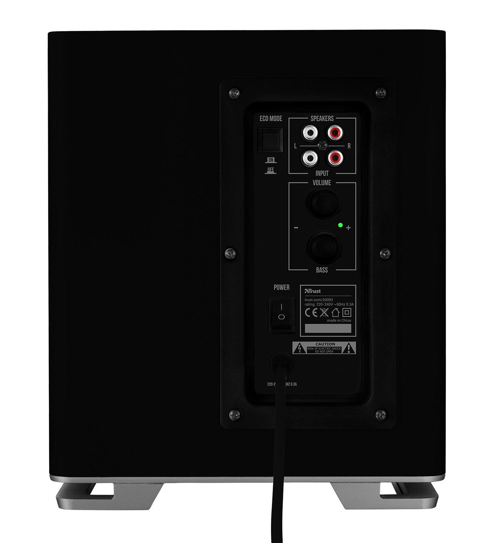 Trust Mitho - Set de Altavoces para televisión (2.1, subwoofer de 120 W), Negro: Amazon.es: Informática