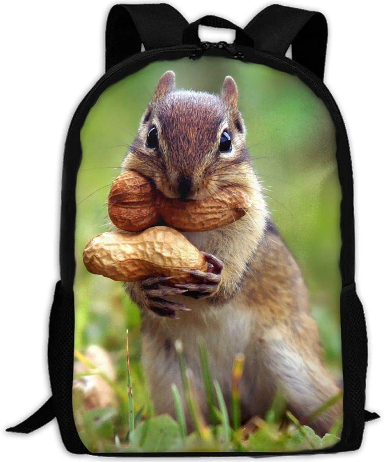 Backpack Briefcase Laptop Travel Hiking School Shoulder Bags Squirrel Nut Funny Daypack