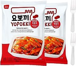 Tteokbokki Korean Rice Cake Instant (Pack of 2, Spicy & Sweet Sauce) Korean Snack Tteok Tteokbokki Rice Cake
