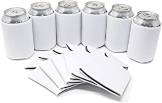TahoeBay 25 Can Sleeves for Standard Cans Blank Poly Foam Beer Insulator Coolers (White, 25)