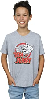 Absolute Cult Tom and Jerry Niños Distressed Logo Camiseta