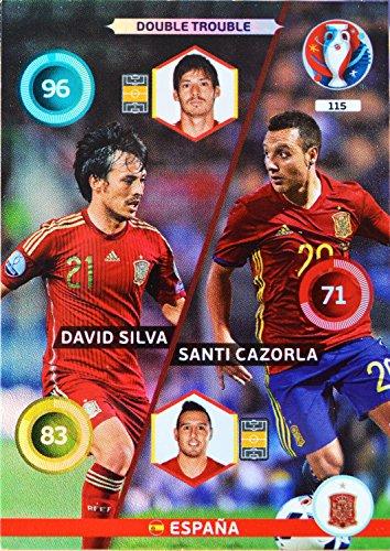 carte PANINI EURO 2016 #115 Silva - Cazorla
