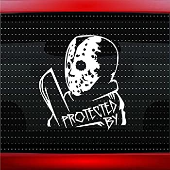 Jason Horror Movie Face WHITE Vinyl Car//Laptop//Window//Wall Decal
