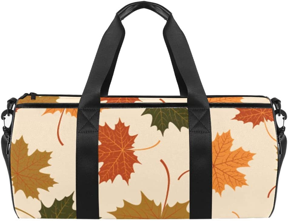 AISSO Duffel Bag for Women Men Sports Leaves Ranking TOP10 Autumn To New life Gym Maple