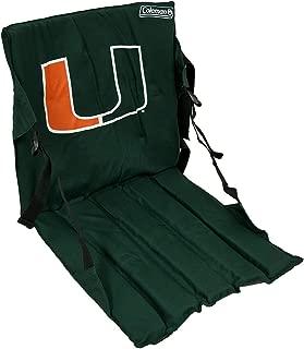 Zeckos Miami Hurricanes Cushioned Roll Up Stadium Seat