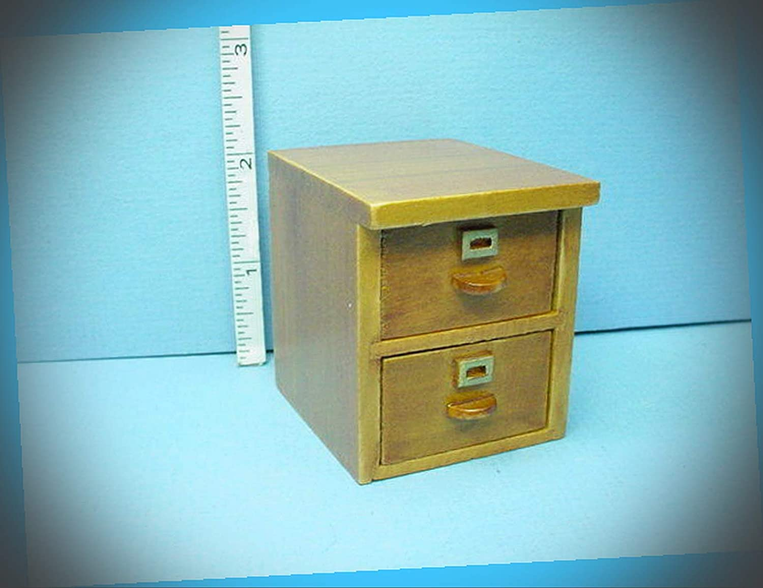 It is very popular New Fairy Garden Miniature File Waln Free shipping 2 #CBRT6562A Drawer Cabinet