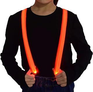 حمالات مضيئة للأولاد والأطفال LED نيون ملابس، حمالات أزياء