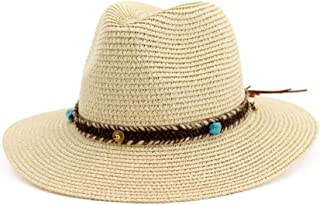 YSNRH Hat Ladies Summer Beach Wide Brim Straw Visor Hat,Sun Hat Fishing Hat with ,Outdoor Caps for Shade Hat Visor Hats Foldable Designed for Summer,Travel Camping,Outdoor,Hiking,Summer