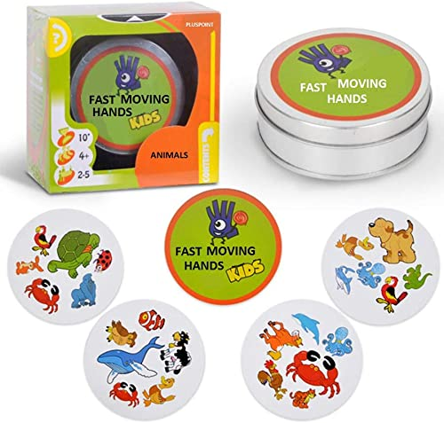 PLUSPOINT Exclusive Collection of Games for Travelling Education Matching Pictures Numbers Sequence for Boys Girls Adults Spot it Animals