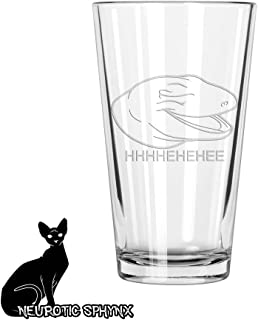 Laughing Lizard Meme Leopard Gecko Pint Glass- Hand Etched