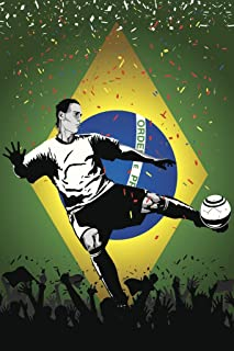Brazil Soccer Player Sports Cool Huge Large Giant Poster Art 36x54