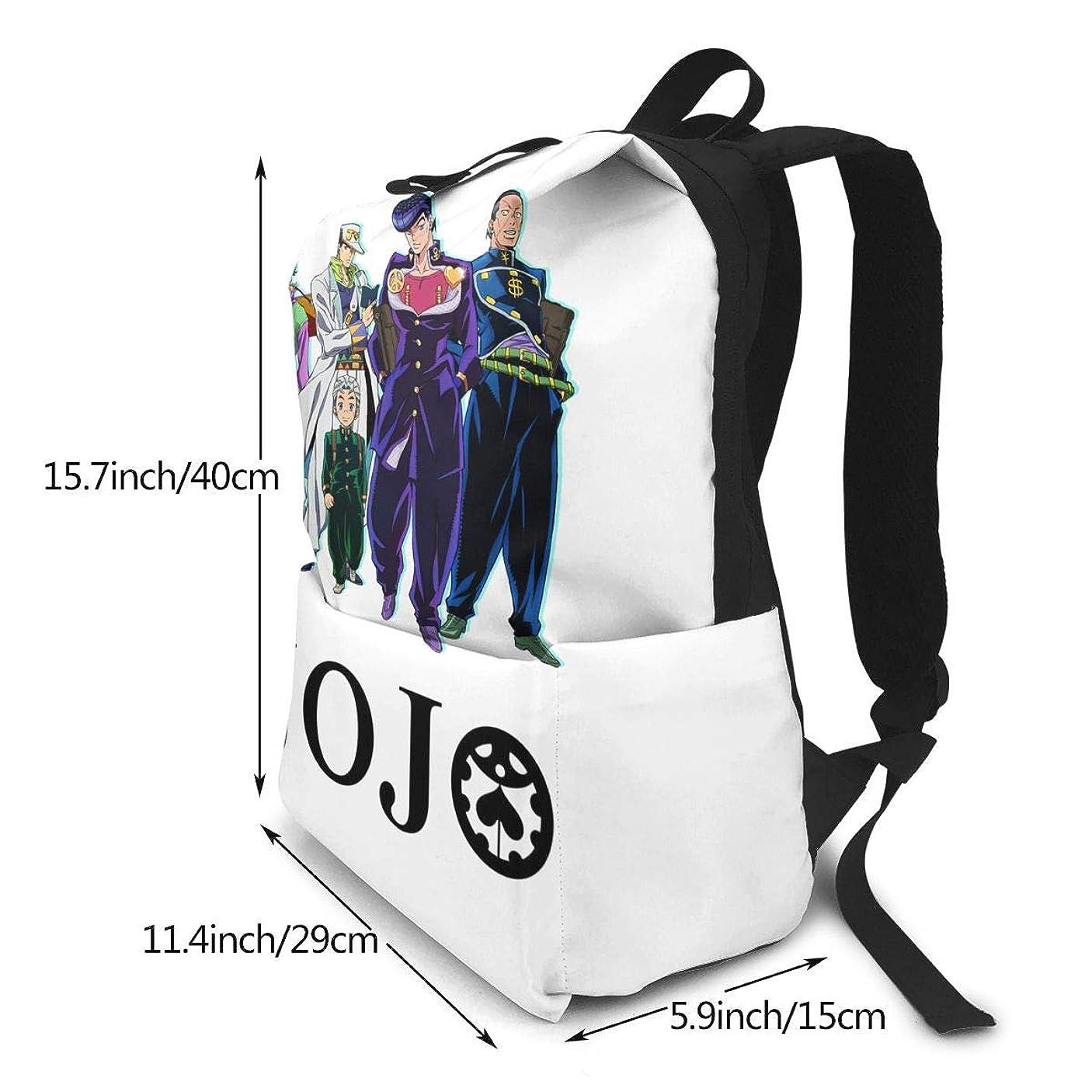 項目尊敬せせらぎ双肩バッグ リュックサック Jojos Bizarre Adventure ジョジョの奇妙な冒険 バックパック Schoolbag 大容量 通学 中学生かばん リュック スクエアリュック 男女子高校生 バック 通学 通勤 40X29X15(Cm)