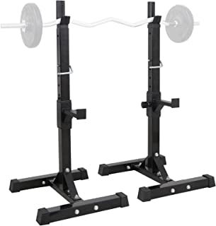 ZENY Pair of Barbell Bench Press Stands Hight Adjustable 41