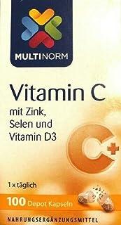 MULTINORM Vitamina C con Zinc, Selenio y Vitamina D3, 100 c