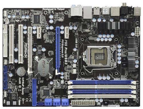 ASRock P55 PRO/USB3 Mainboard Sockel 1156 P55 ATX DDR3 Speicher