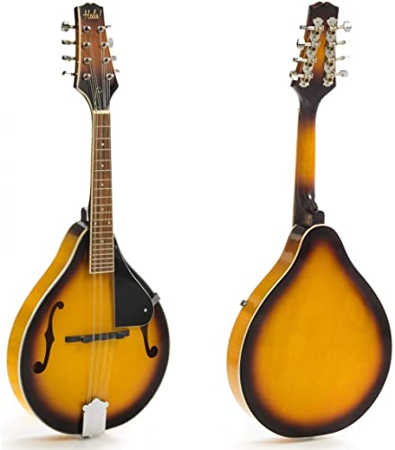 Hola! Music A Style Mandolin Instrument with Adjustable Truss-Rod Model HM-3TS, Glossy Sunburst Finish