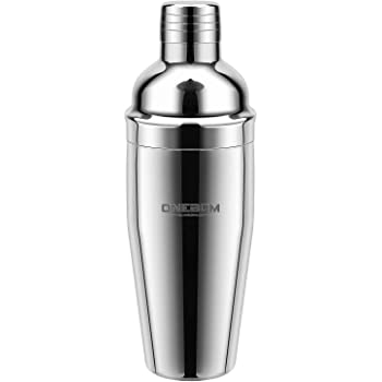ONEBOM Upgrade Cocktail Shaker 750ML, Cocktail Making Set Heavy Duty,Martini Mixer with Jigger Cap & Strainer, Large Capacity for Drinks Bar Home Use