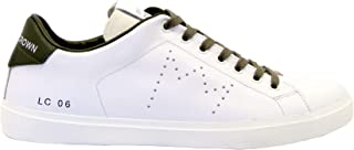 Luxury Fashion | Leather Crown Men MIC06602 White Leather Sneakers | Spring-summer 20