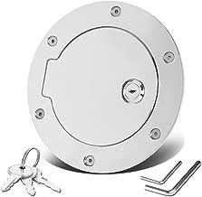 For Dodge Ram DS/DJ 4th Gen Fuel Gas Tank Door with Lock & Keys (Chrome)