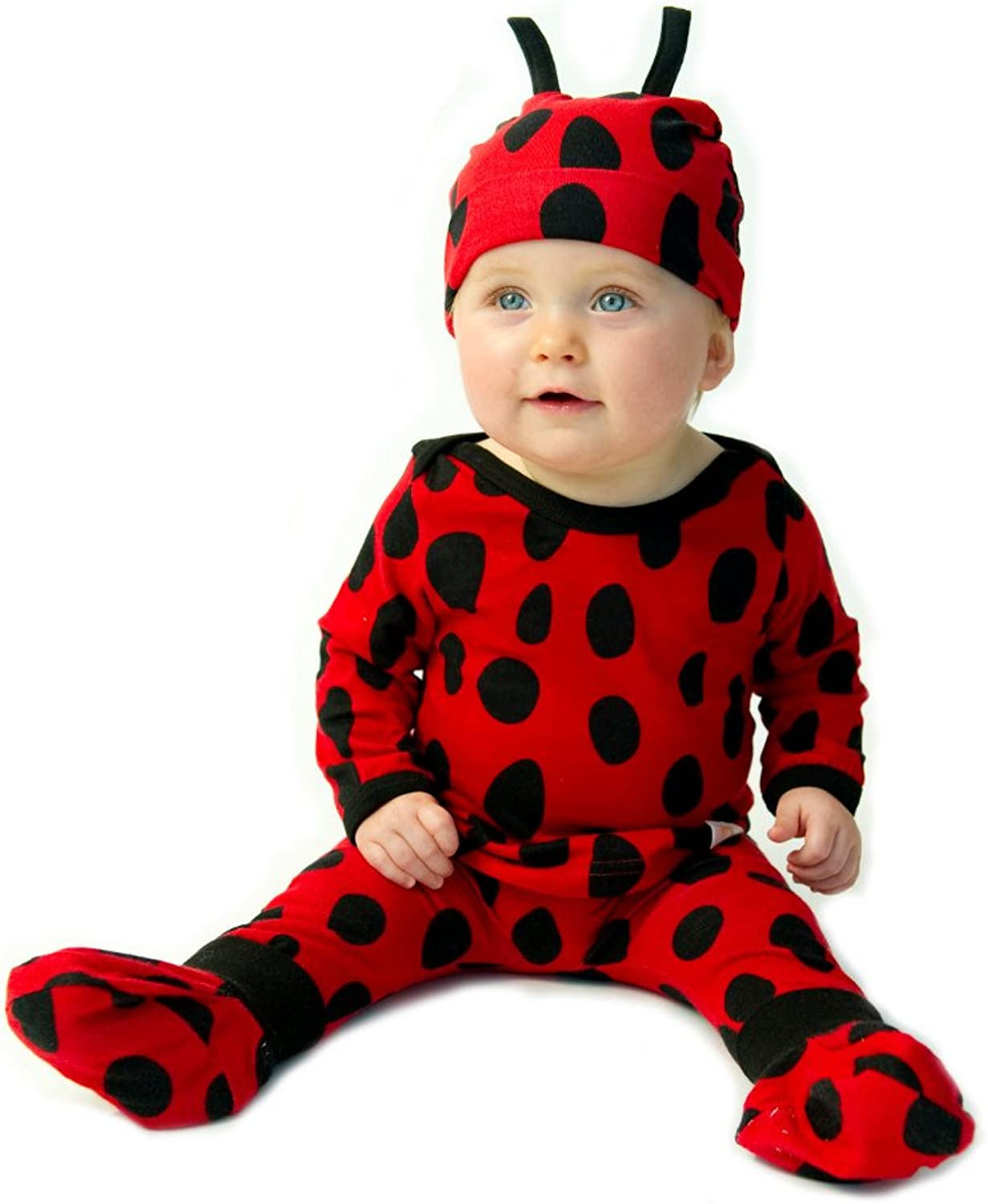 Noo Designs (gnu design) Animal Kohde set 4-piece Ladybug Ladybug for 3-6 months