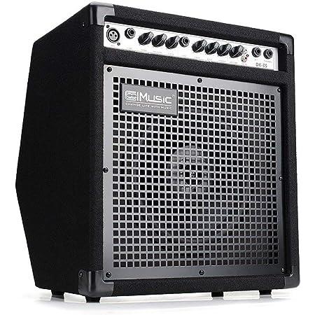 COOLMUSIC DK-35 amplificador de monitor personal de 50 W, amplificador de tambor eléctrico PA estación de trabajo, altavoz de teclado y amplificador ...