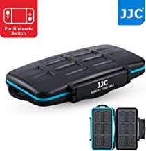 JJC 12+12 Slots Water-Resistant Game Card Case Memory Card Protector for 12 X Nintendo Switch NS (Mario Kart 8,Legend of Zelda) / Sony Playstation PS Vita (Batman,Persona 4 Golden)+12 X Micro SD/MSD