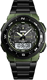 Men'S Electronic Watch, Digital Analog Sports Watch Waterproof Electronic LED Military Digital Watch Stopwatch Chronograph...