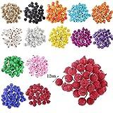 200pcs Mini Weihnachten Dekoration Künstliche Frucht Beere Holly Blumen - Rot - 8