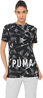 Puma FUSION Cropped AOP Tee For Women - Black XS