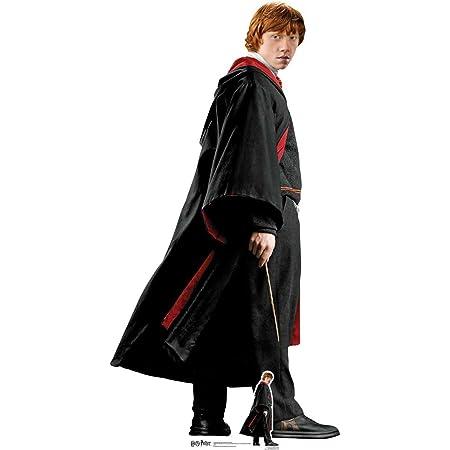De los libros oficiales de Harry Potter Lifesize - Recorte de cartón de Ron Weasley (Rupert Grint) Hogwarts Escuela de brujería y magia Uniforme 176 cm de alto