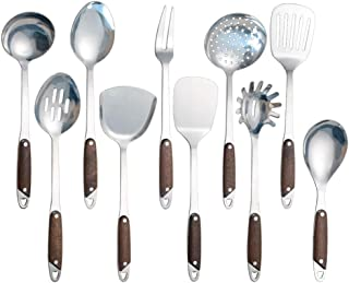 Idomy 10-Piece Stainless Steel Kitchen Gadgets Cookware Set