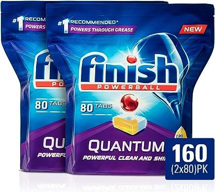 Finish Powerball Quantum Dishwasher Tablets, Lemon Sparkle, 160 Pack (2x80)