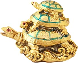Divya Mantra Feng Shui Three Tiered Tortoise for Longevity, Descendant Luck, Career Progression and Bad Intentions