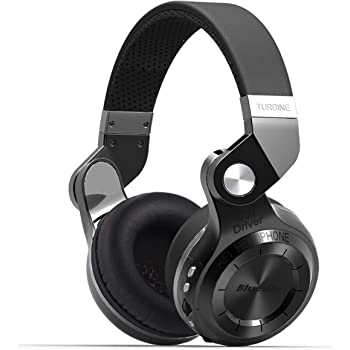 Bluedio T2 Plus Turbine Wireless Bluetooth Headphones with Mic/Micro SD Card Slot/FM Radio (Black)